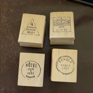 Set of postal rubber stamps